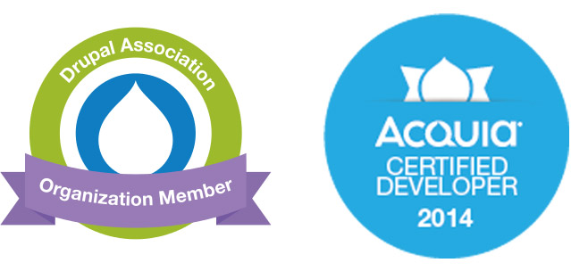 Acquia Certified Developer, Drupal Association Organization Member