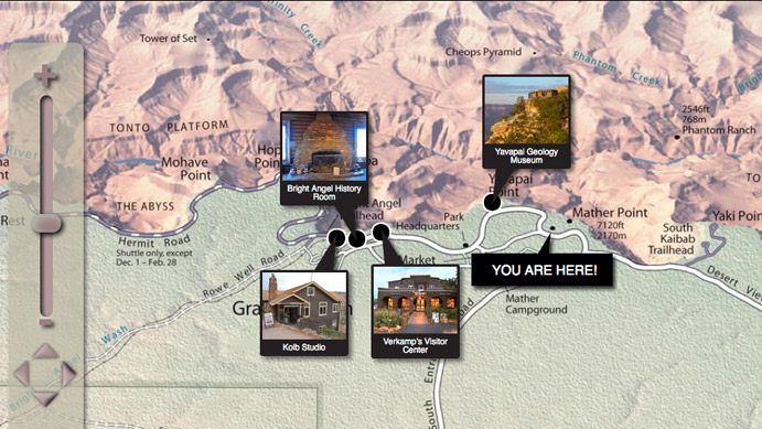 Grand Canyon Trip Planner Map Detail