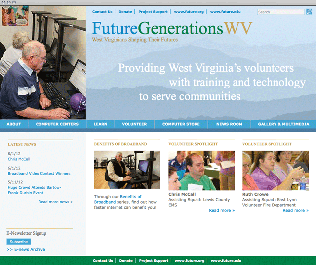 Future West Virginia home page