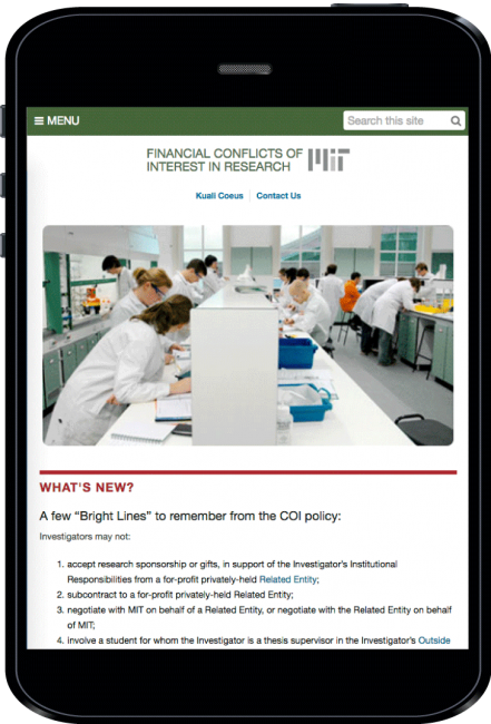 MIT COI home page